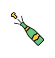 champagne flat icon sign symbol vector image vector image