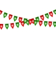 Christmas bunting flag isolated on white vector image vector image