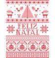 christmas pattern feliz natal seamless vector image vector image