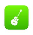 classical guitar icon digital green vector image