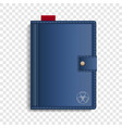 closed sketchbook icon realistic style vector image
