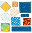 Cloth Patches vector image