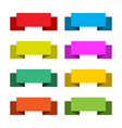 colorful set 8 banners vector image