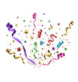confetti isolated festive background vector image vector image