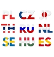 countries domains set vector image