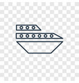 cruise concept linear icon isolated on vector image
