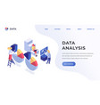 data analysis website template vector image vector image