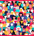 diverse woman crowd pattern for womens day vector image vector image