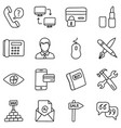 ecommerce line icons vector image vector image