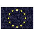 European Union Text Flag vector image vector image