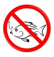Fishing Prohibited Sign vector image vector image