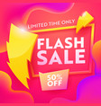 flash sale advertising modern banner discount vector image vector image