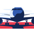 flat style airliner at vector image