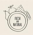 fresh and natural fruits food healthy organic vector image