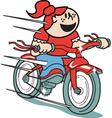 Girl on a bike vector image vector image