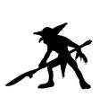 goblin silhouette monster villain fantasy vector image vector image