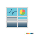 hash rate flat icon vector image vector image