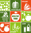 Healthy Produce Icons vector image vector image