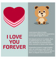 i love you forever card with light background vector image