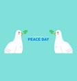 international peace social banner white dove vector image