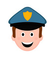 isolated male police officer avatar vector image