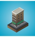 Isometric 3d residential building vector image
