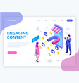 isometric web banner with engaging content vector image