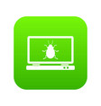 laptop icon digital green vector image vector image