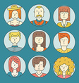 Linear People Icons vector image vector image