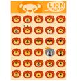 Lion emoji icons vector image vector image