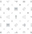 loudspeaker icons pattern seamless white vector image vector image