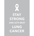 lung cancer poster vector image vector image