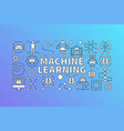 machine learning banner or vector image vector image