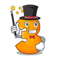 magician number three isolated on the mascot vector image vector image