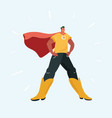 man in superhero suit vector image vector image