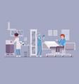 medical procedures in doctors office vector image