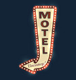 motel road sign vector image vector image