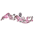 music notes microphone vector image vector image