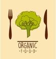 organic food menu design vector image vector image