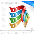 Pencil and Infographic vector image vector image