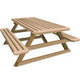 Picnic table vector | Price: 1 Credit (USD $1)