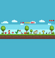 pixel art style character in game arcade play vector image vector image