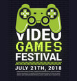 poster of video game festival cyber sport concept vector image
