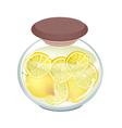 Preserved Lemons in A Jar on White Background vector image vector image