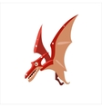 Pterodactyl Mid-air Flat vector image vector image