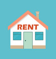real estate rent concept rent house vector image vector image