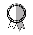 rosette corporate win banner shadow vector image vector image
