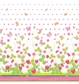 seamless vertical pattern with Decorative vector image vector image