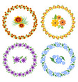 set of cheerful beautiful multicolored wreaths and vector image vector image