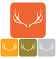 silhouette of the deer horns vector image vector image